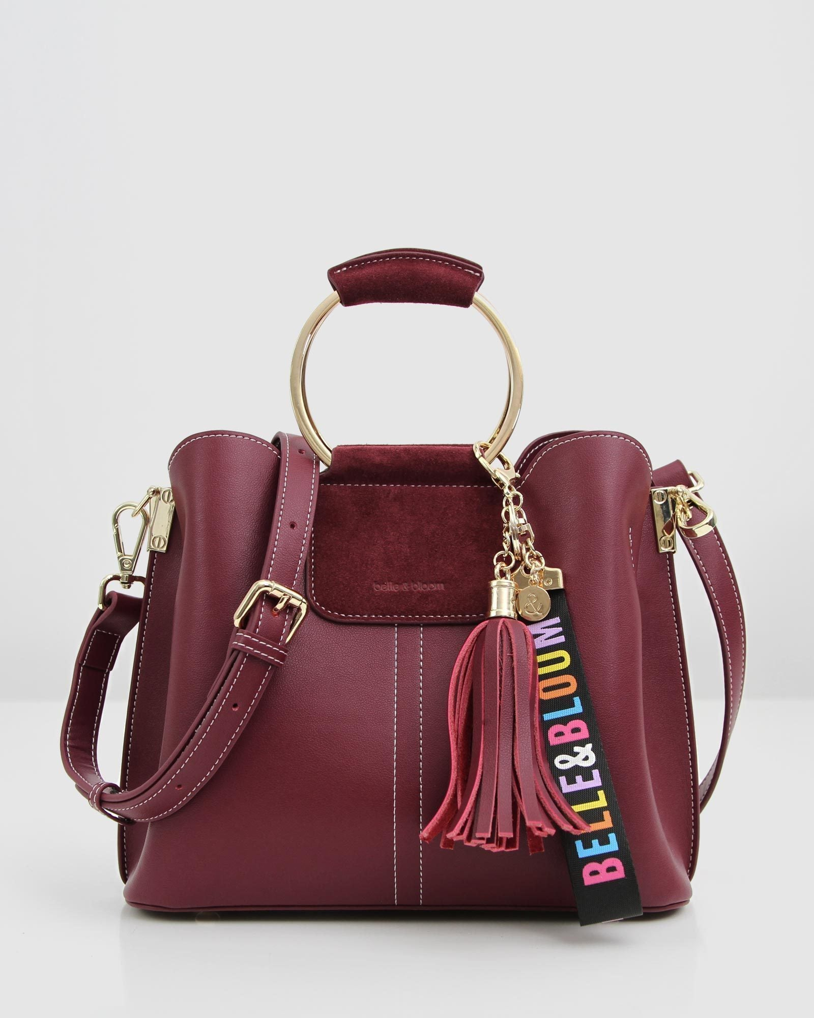Twilight Leather Cross-Body Bag - Wine