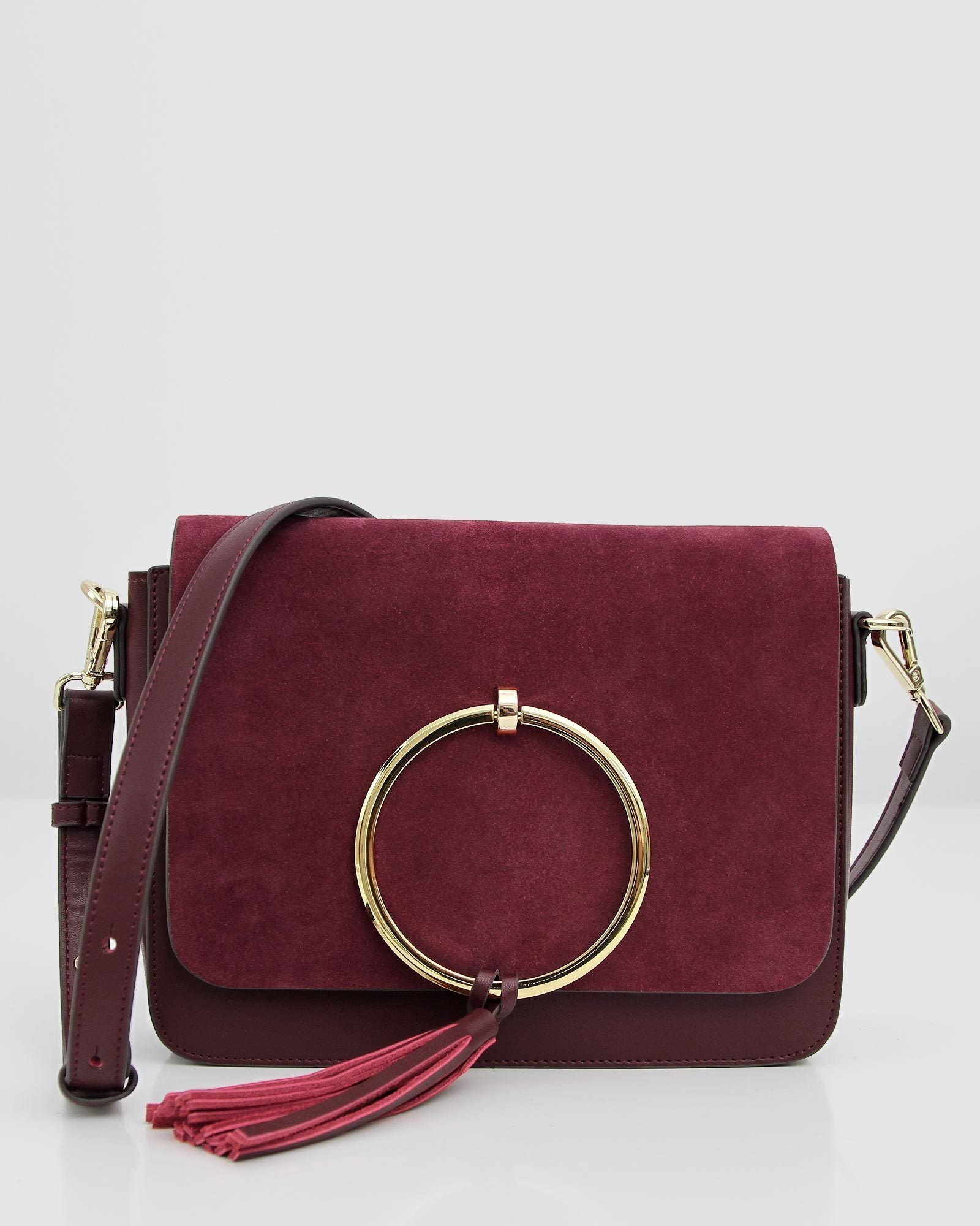 Sailor City Leather Cross-Body - Wine