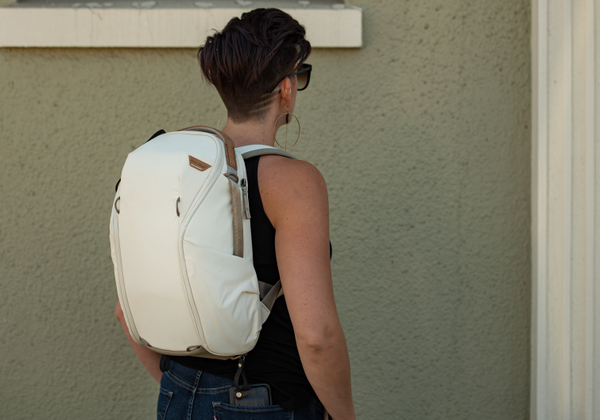 Everyday Backpack Zip - Bone