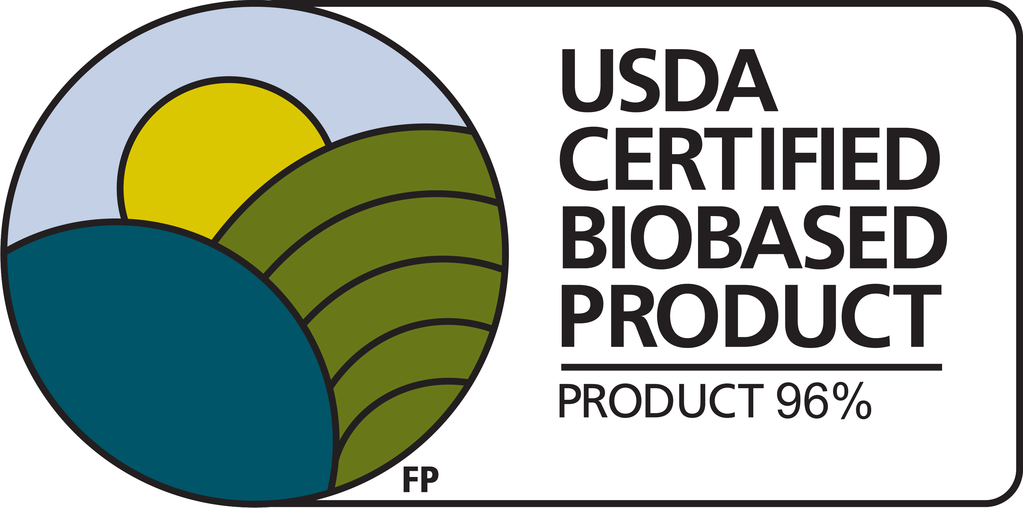 USDA 96 percent bio based product logo