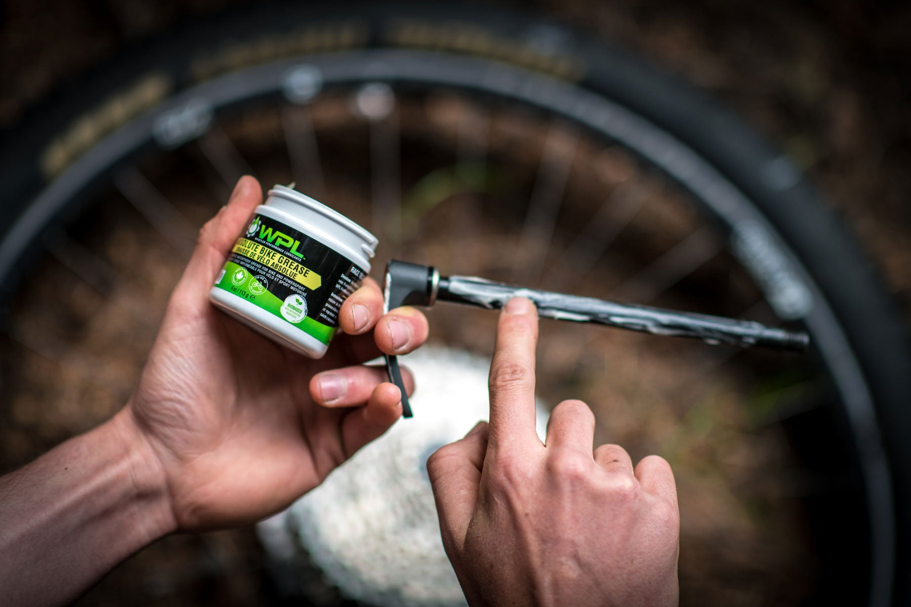 Ultimate Bike Grease Being Applied