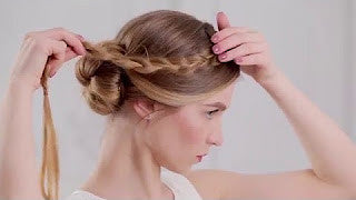 Get A Romantic Braided Side Bun