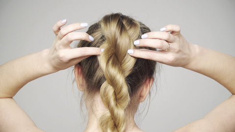 How to do a Twisted Rope Braid Ponytail
