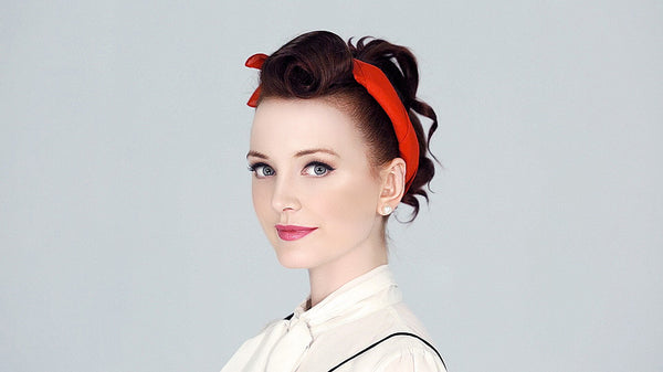 Pin-up style Victory Roll; a vintage up-do