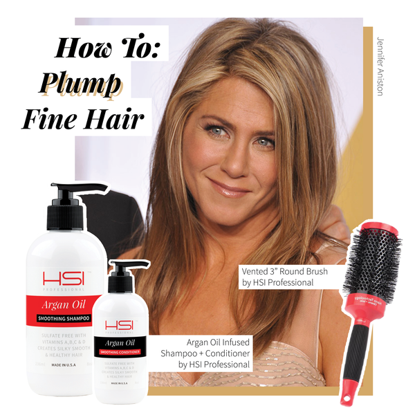 Tricks + Tips to Plump Fine Hair