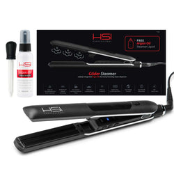 Glider Steamer Ceramic Flat Iron w/Steam Dispenser