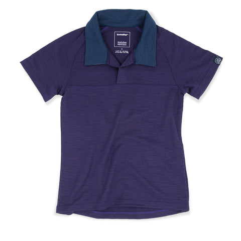 Smart Merino Polo Blueberry