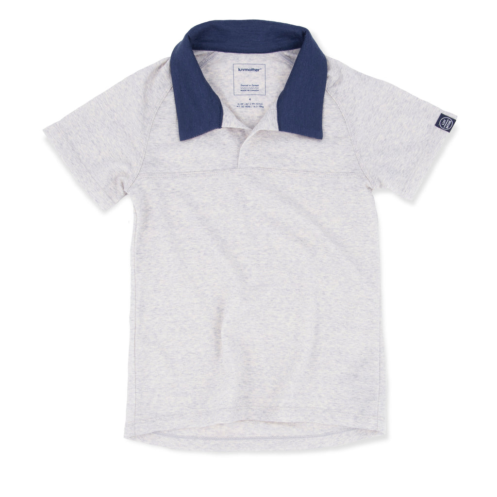 Smart Merino Polo Heather Gray