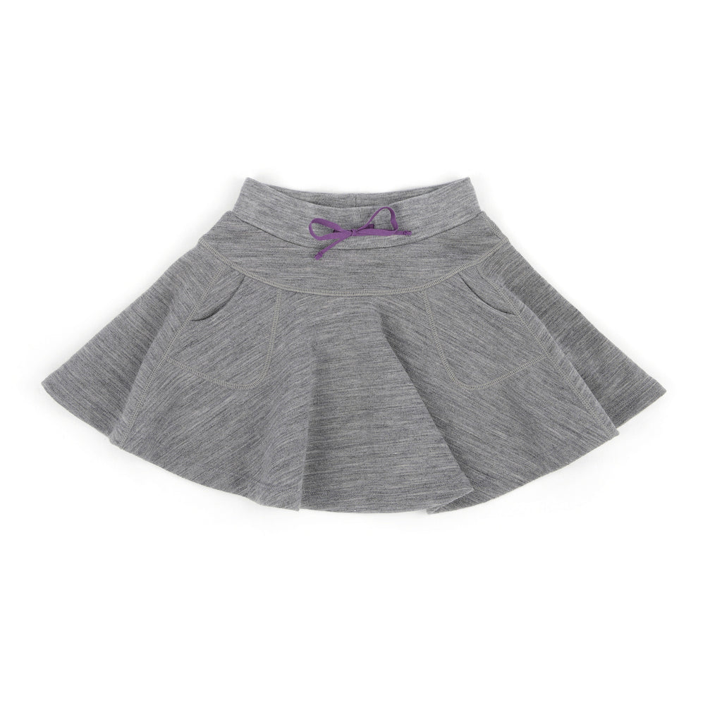 Swing Merino Skirt Owl Gray