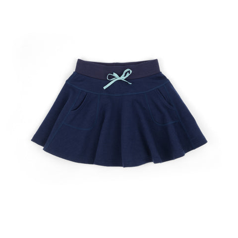 Swing Merino Skirt Pacific