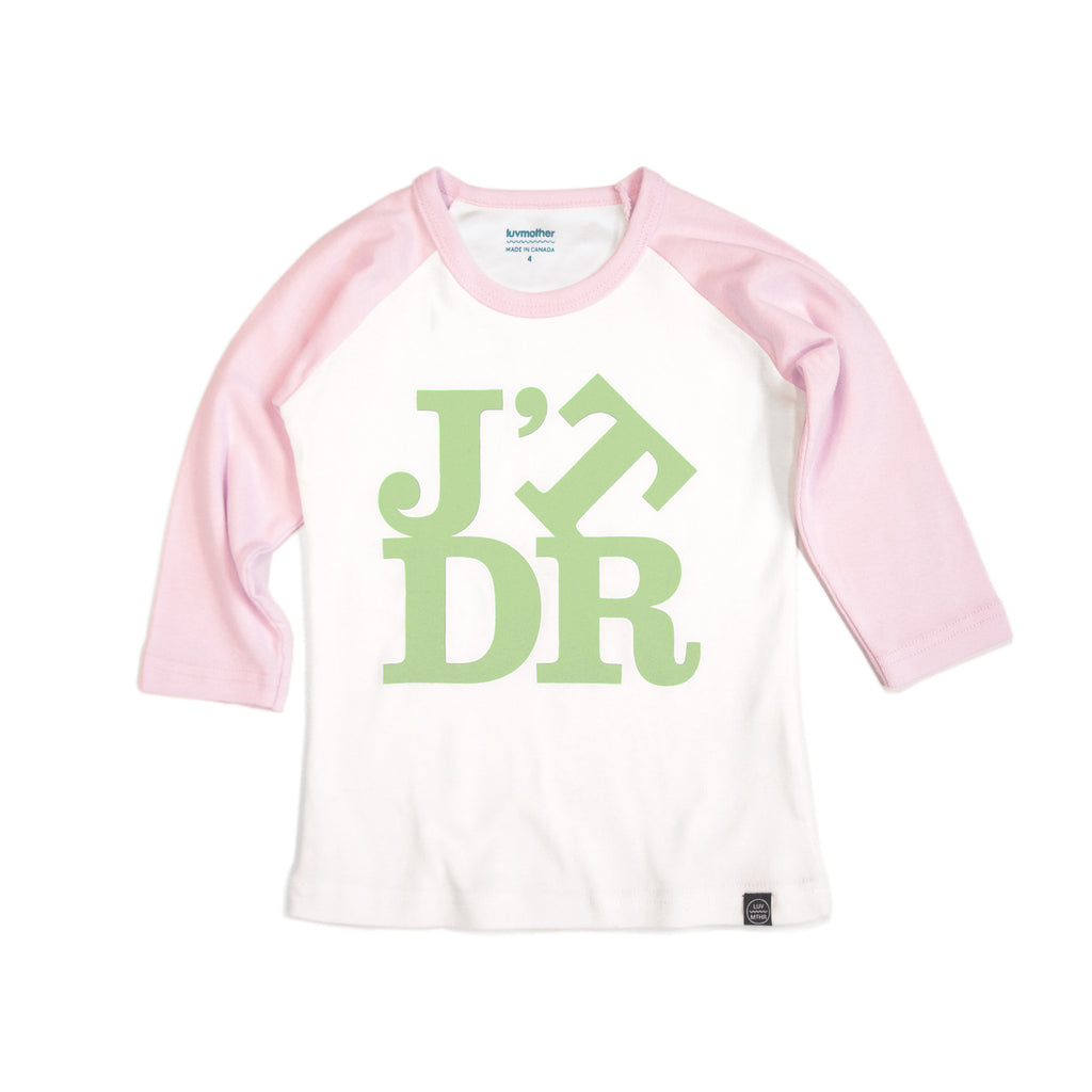 J'TDR Tee Pink and Green