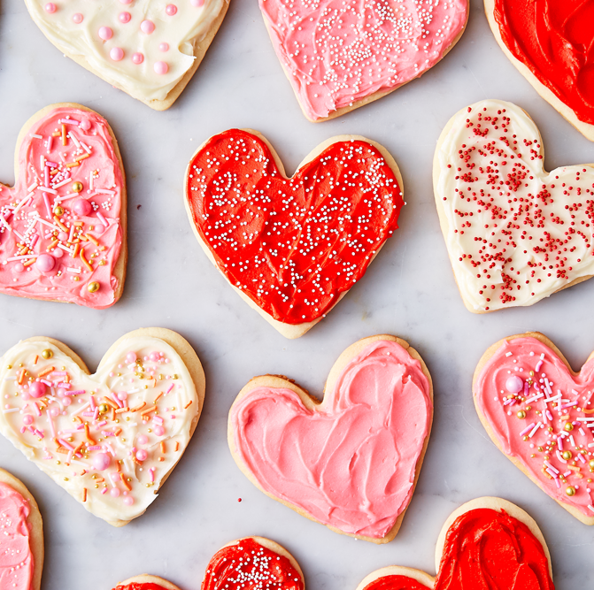 Heart-shaped Sugar Cookies Perfect for Valentine's Day