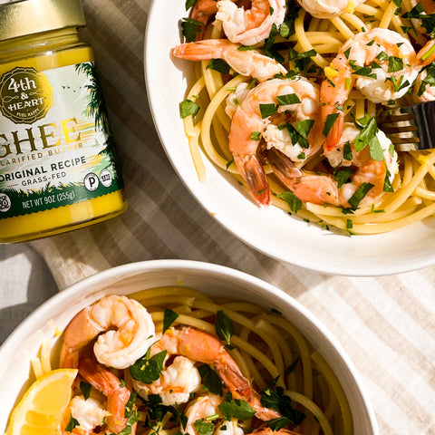 Healthy Shrimp Scampi & 4th & Heart Ghee