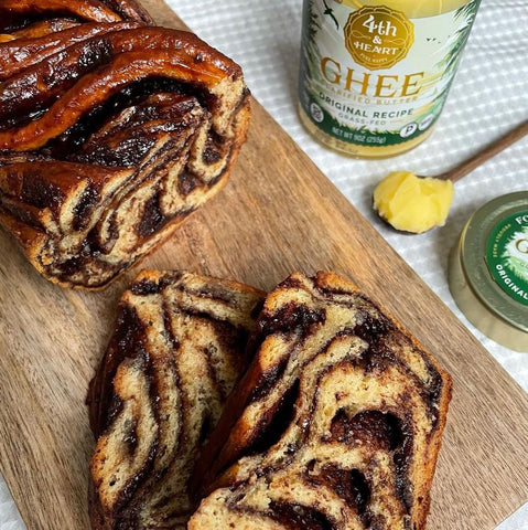 Chocolate Babka with 4th & Heart Ghee