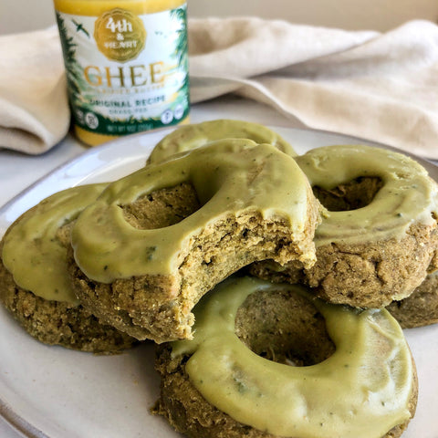 Matcha Baked Donuts with 4th & Heart Ghee