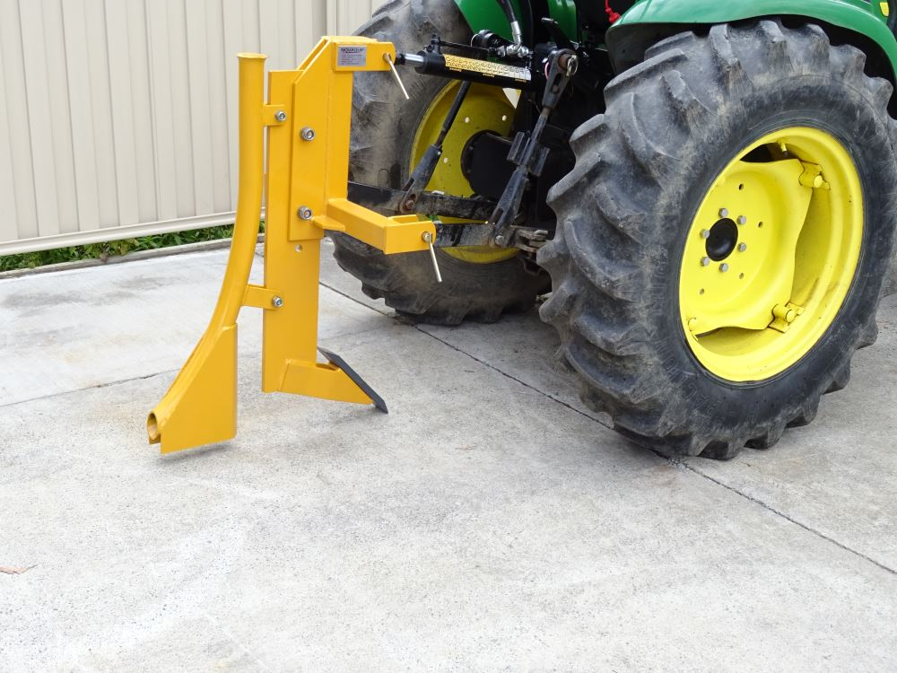 single tine ripper with pipe laying attachment implements direct