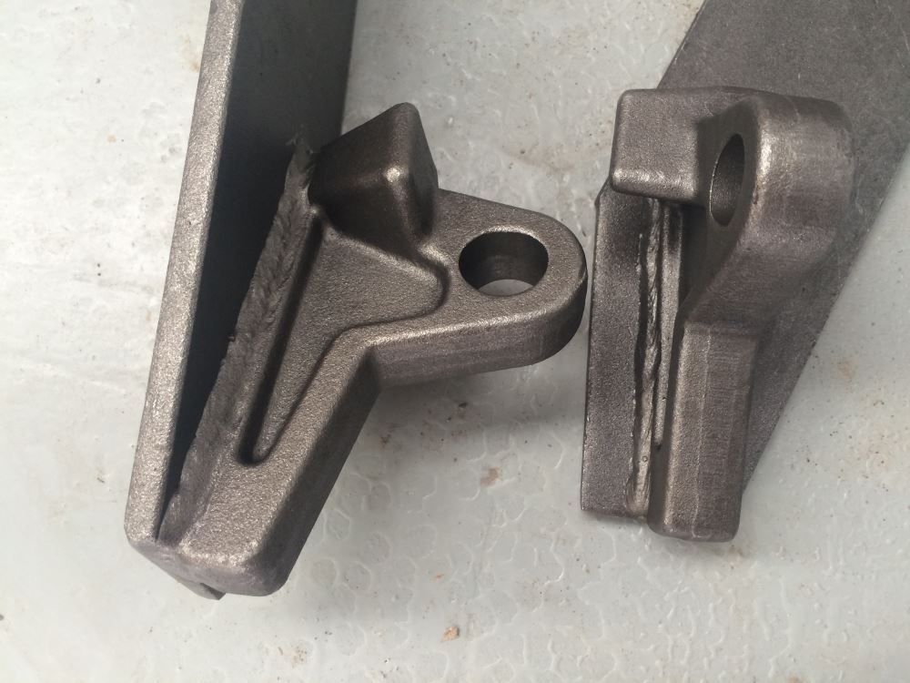 Euro Hitch brackets - Weld on mounting plates