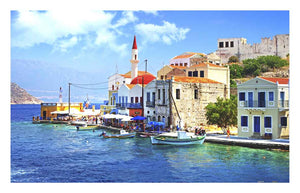 Greece Bay 1000 pieces Jigsaw Puzzle Pintoo