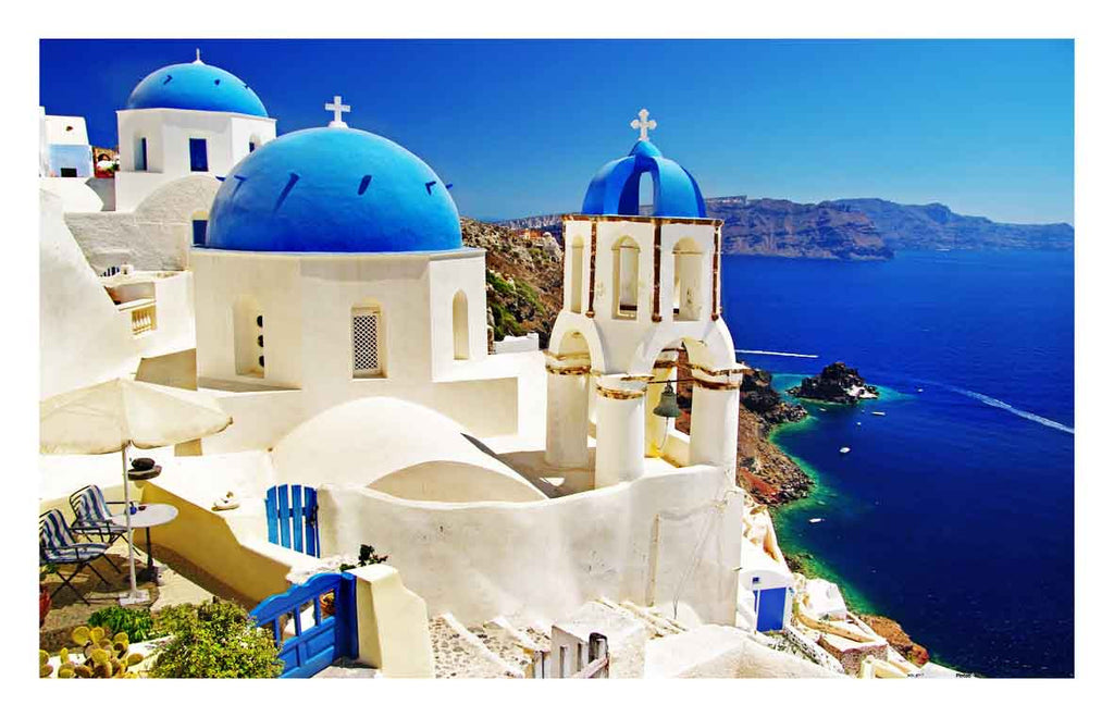 Santorini, Greek 1000 pieces Jigsaw Puzzle Pintoo