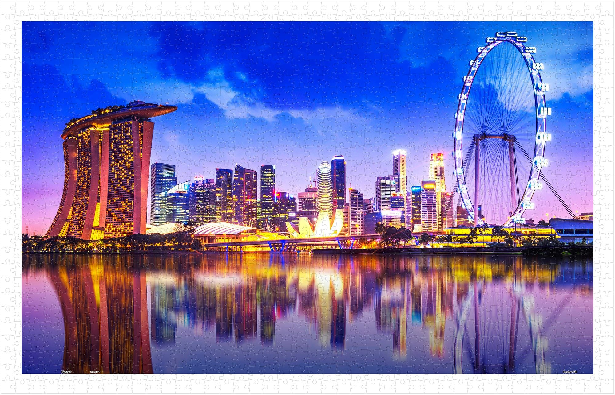 The Singapore Skyline 1000 Pieces Jigsaw Puzzle Perfect
