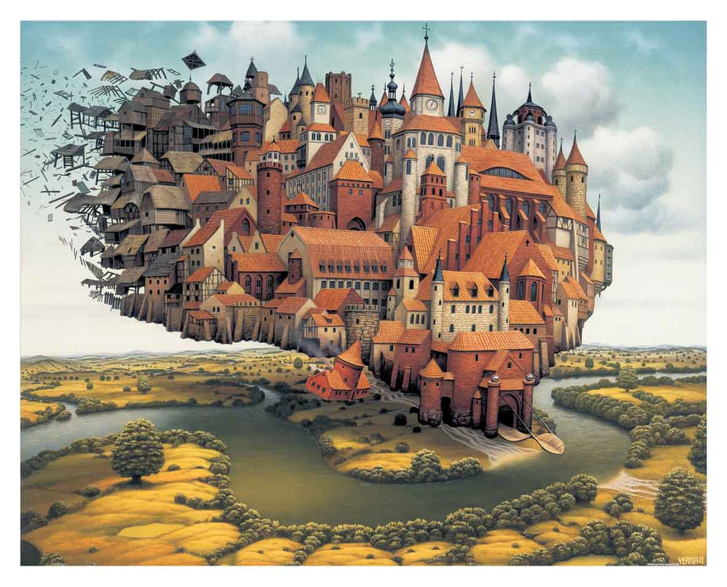 2000 pieces Jigsaw Puzzle Jacek Yerka - City is Landing Pintoo H1637