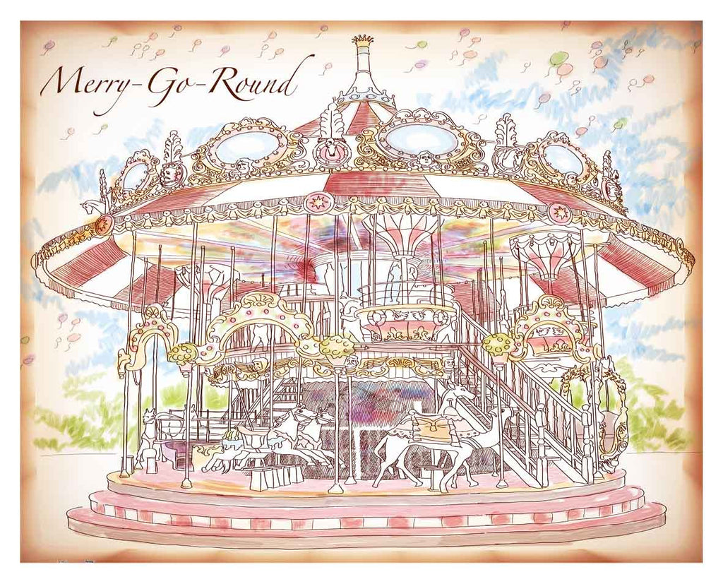 Merry-Go-Round Plastic Pintoo Jigsaw Puzzle (2000 / 500 pieces)