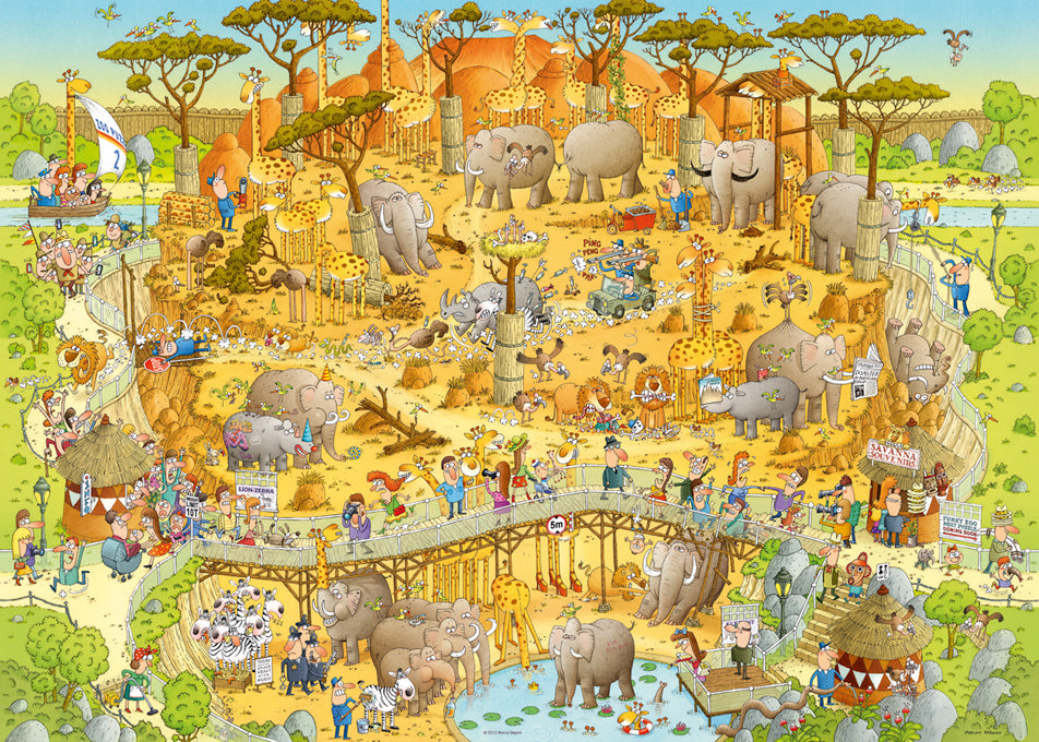 1000 pieces - Funky Zoo - African Habitat