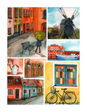 Beautiful Collage of Tranquil Streets 300 pcs jigsaw puzzle pintoo
