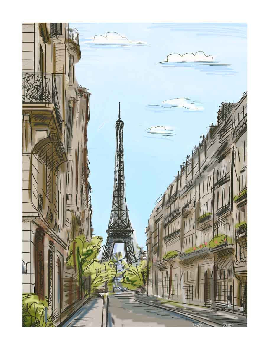 Street in Paris, France 300 pcs jigsaw puzzle pintoo