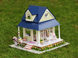 Large Miniature Dollhouse - Bicycle Angel