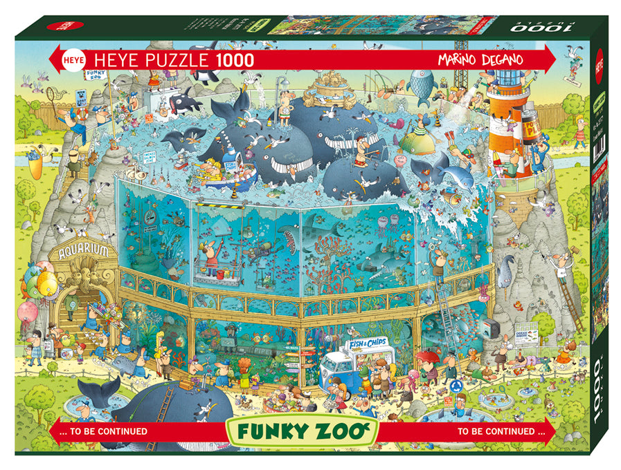 1000 pieces - Funky Zoo - Ocean Habitat