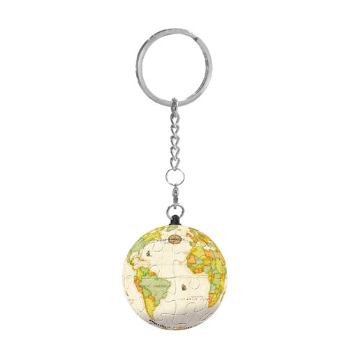 Puzzle Keychain (24 pieces) - Yellow Globe