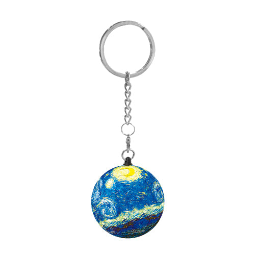 Puzzle Keychain (24 pieces) - Vincent Van Gogh Starry Night 1889