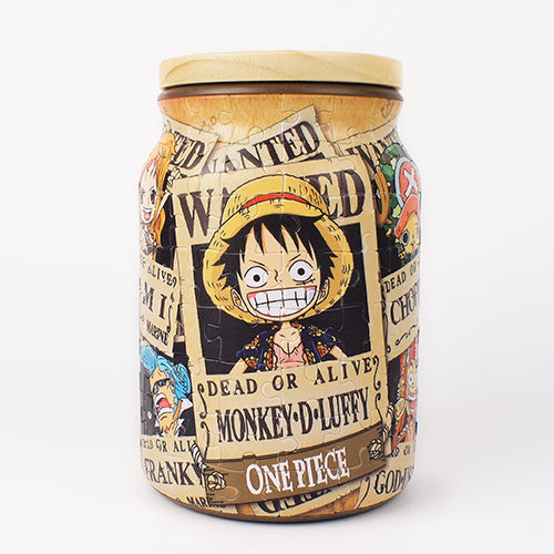Puzzle Jar 128 pieces - One Piece - Wanted