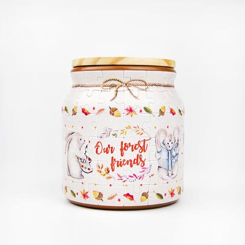 Jigsaw Puzzle Jar - Forest Friends