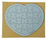 Blue Heart Puzzle Card