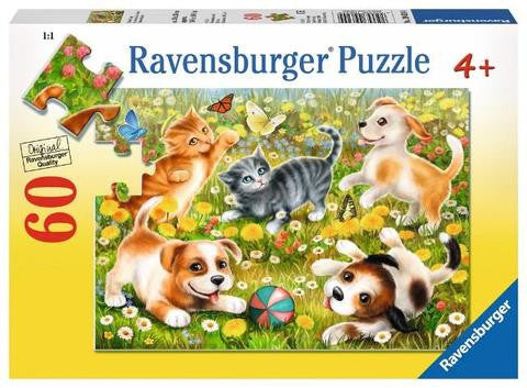 Cats and Dogs 60 pieces (Large Format Puzzle)