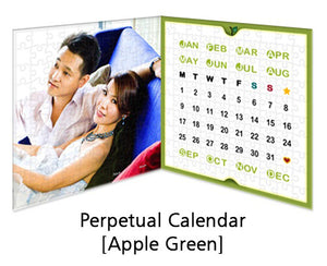 Customised Puzzle Calendar 200 pieces_Apple Green