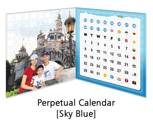 Customised Puzzle Calendar 200 pieces_Sky Blue