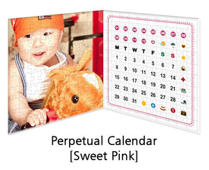 Customised Puzzle Calendar 200 pieces_Sweet Pink
