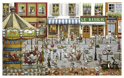 1000 pieces Jigsaw Puzzle: Cat's Paradise (Pintoo)