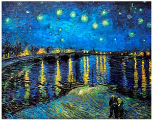 Vincent Van Gogh - Starry Night 1888 Plastic Jigsaw Puzzle