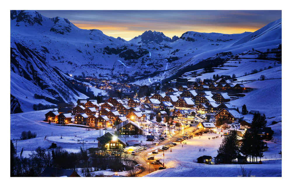 Beautiful Dusk in French Alps Resort 1000 pieces Jigsaw Puzzle Pintoo