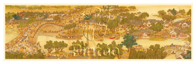 2000 pieces (Panorama) - SMART - Bears Along the River During the Qingming Festival
