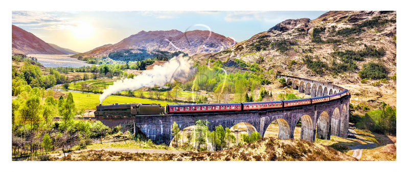 1000 pieces (Panorama) - The Jacobite Steam Train, Scotland