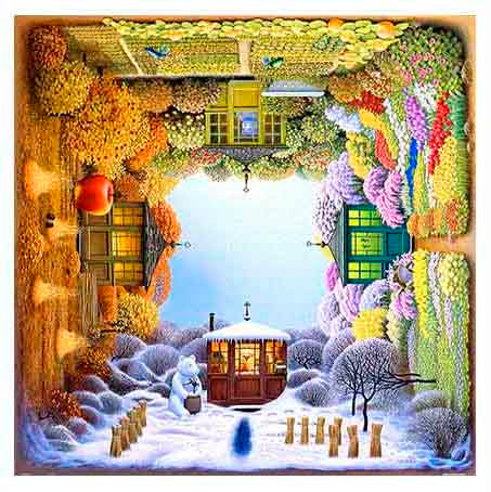 Jacek Yerka - Four Seasons Pintoo 1600 pieces Jigsaw Puzzle