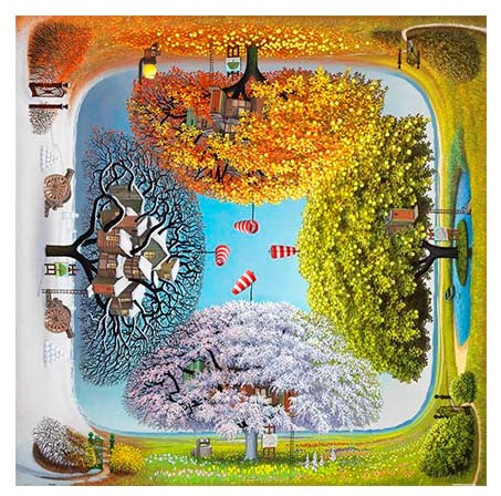 1600 pieces Pintoo Jigsaw Puzzle - Jacek Yerka Apple Tree