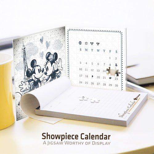 Mickey & Minnie (Love in Paris) Puzzle Calendar