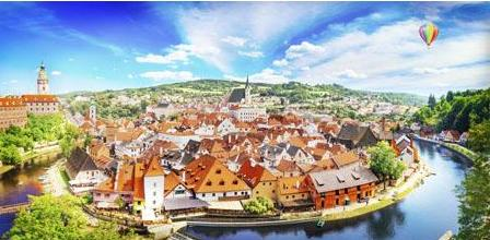 Cesky Krumlov, Czech Republic 800 pieces Jigsaw Puzzle Pintoo