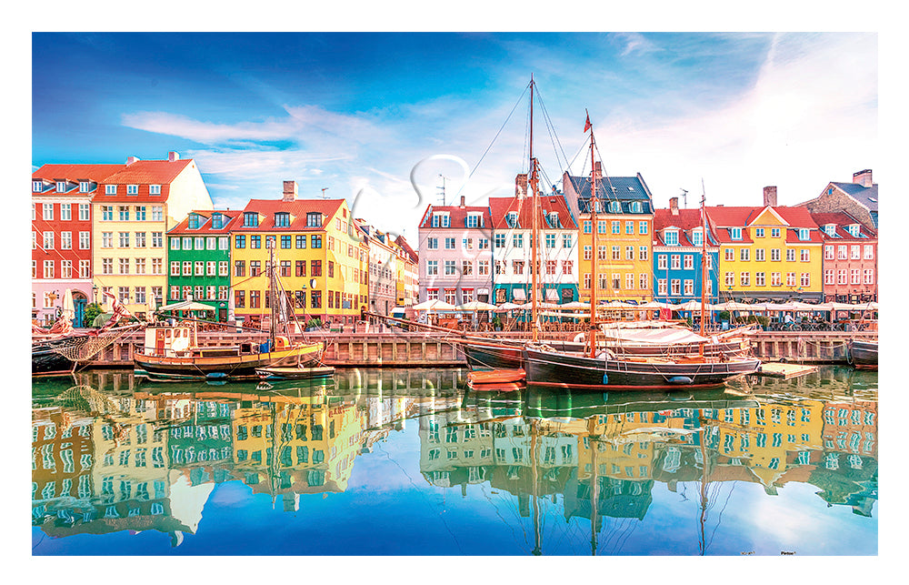 Old Nyhavn Port in Copenhagen, Denmark 1000 pieces Jigsaw Puzzle Pintoo